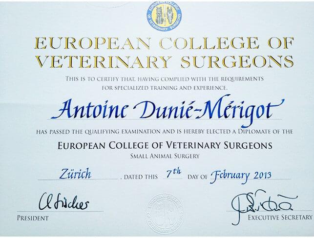 Certificat Languedocia CHV