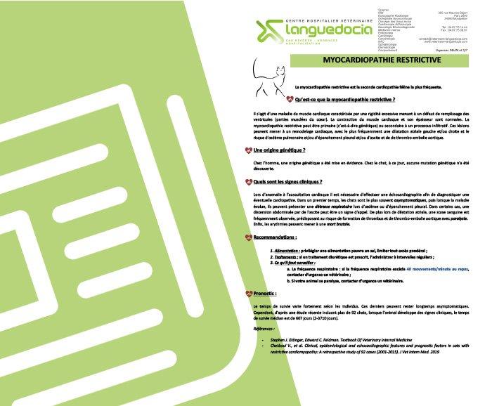 fiche infos myocardiopathie restrictive